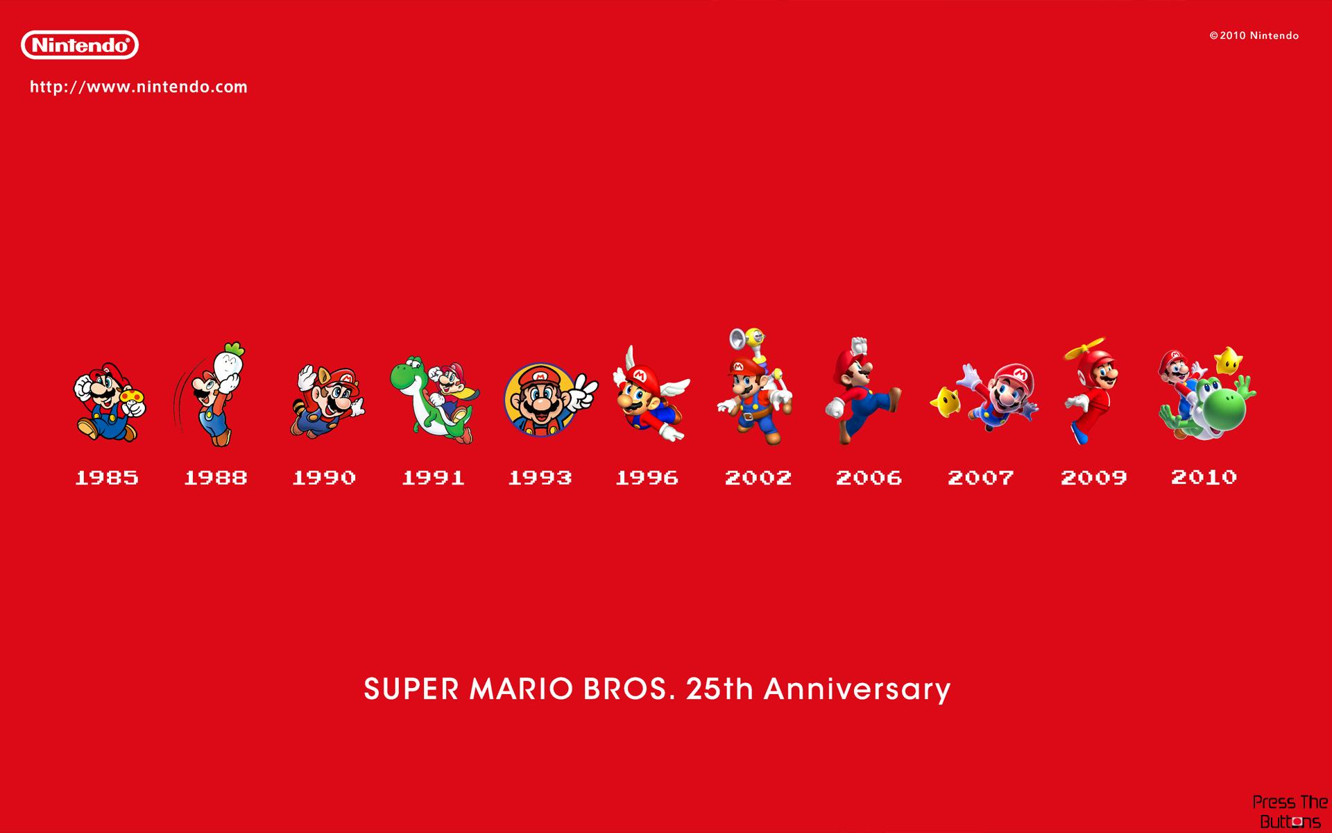 Press The Buttons Super Mario Bros 25th Anniversary Wallpaper